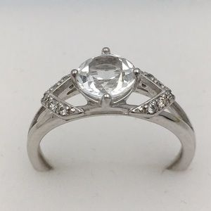 NVC SS 925 Clear Crystal Ring Size 9
